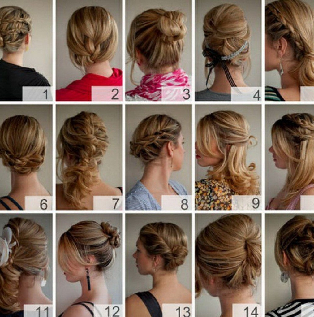 Awesome Easy Hairstyles For Thick Hair Gallery – Styles & Ideas 2018 Regarding Quick Easy Updo Hairstyles For Thick Hair (View 6 of 15)