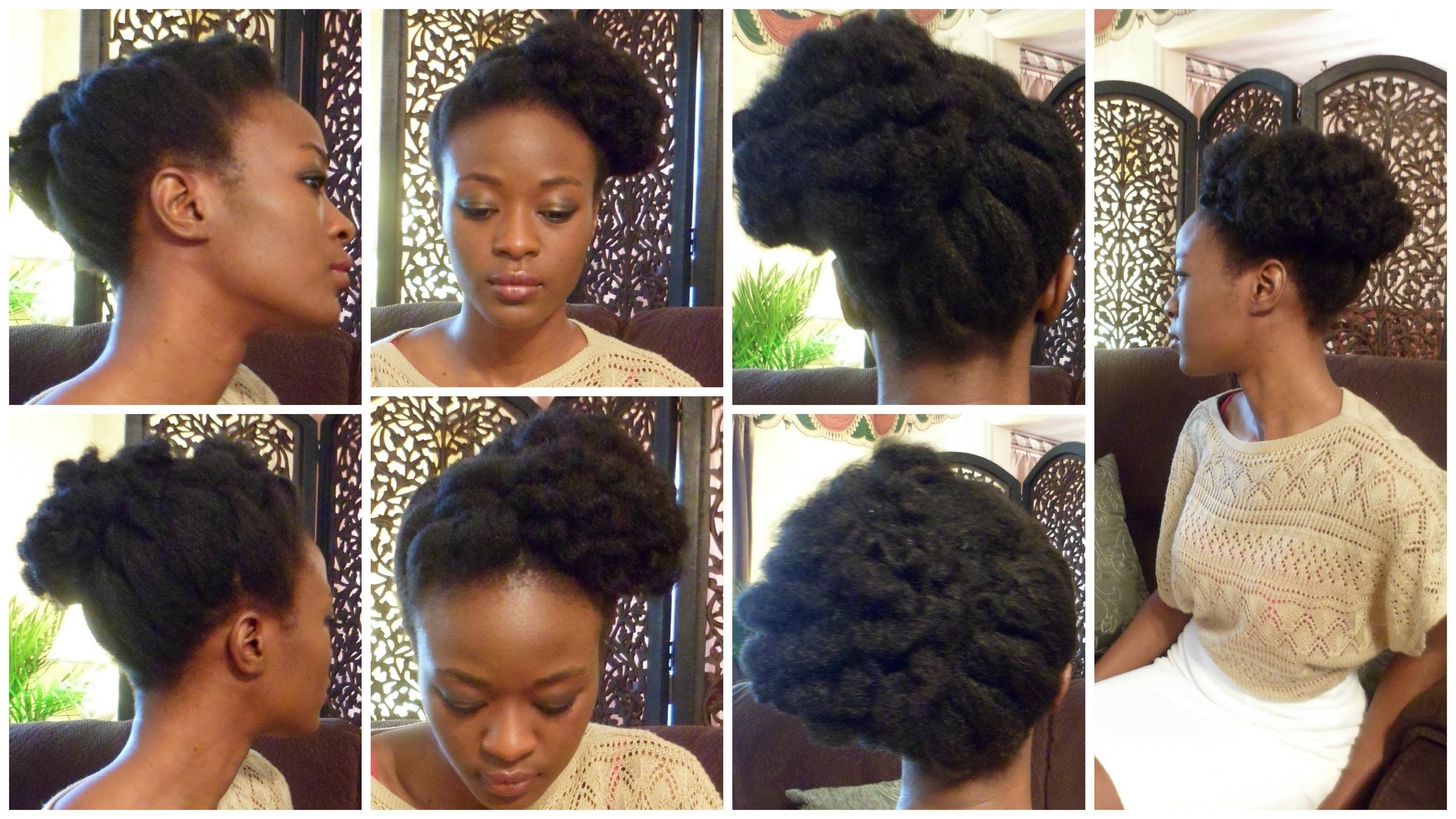 Bantu Knot Updo In Natural Hair And Giveaway – Youtube Inside Knot Updo Hairstyles (View 6 of 15)