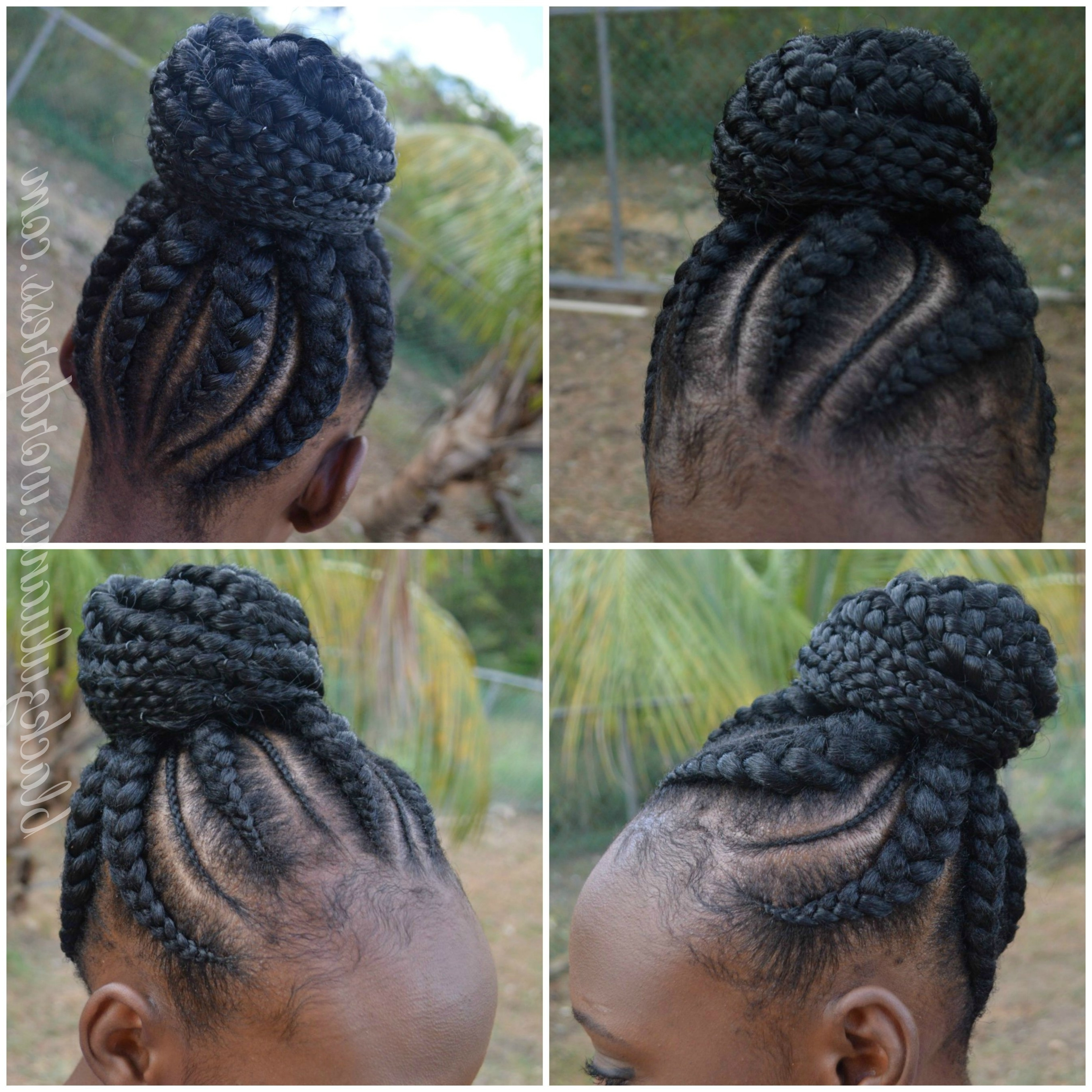 Be Inspired: Cornrow Updo – Black Zulu With Cornrow Updo Bun Hairstyles (View 2 of 15)