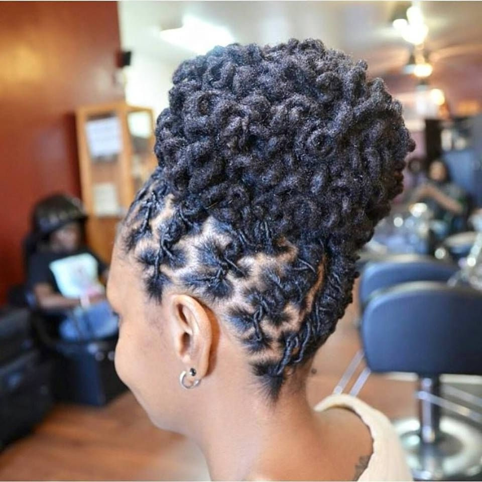 Beautiful Intricate Loc'd Bun Ig:@pstyles3 #naturalhairmag | Loc Throughout Updo Hairstyles For Long Locs (View 10 of 15)