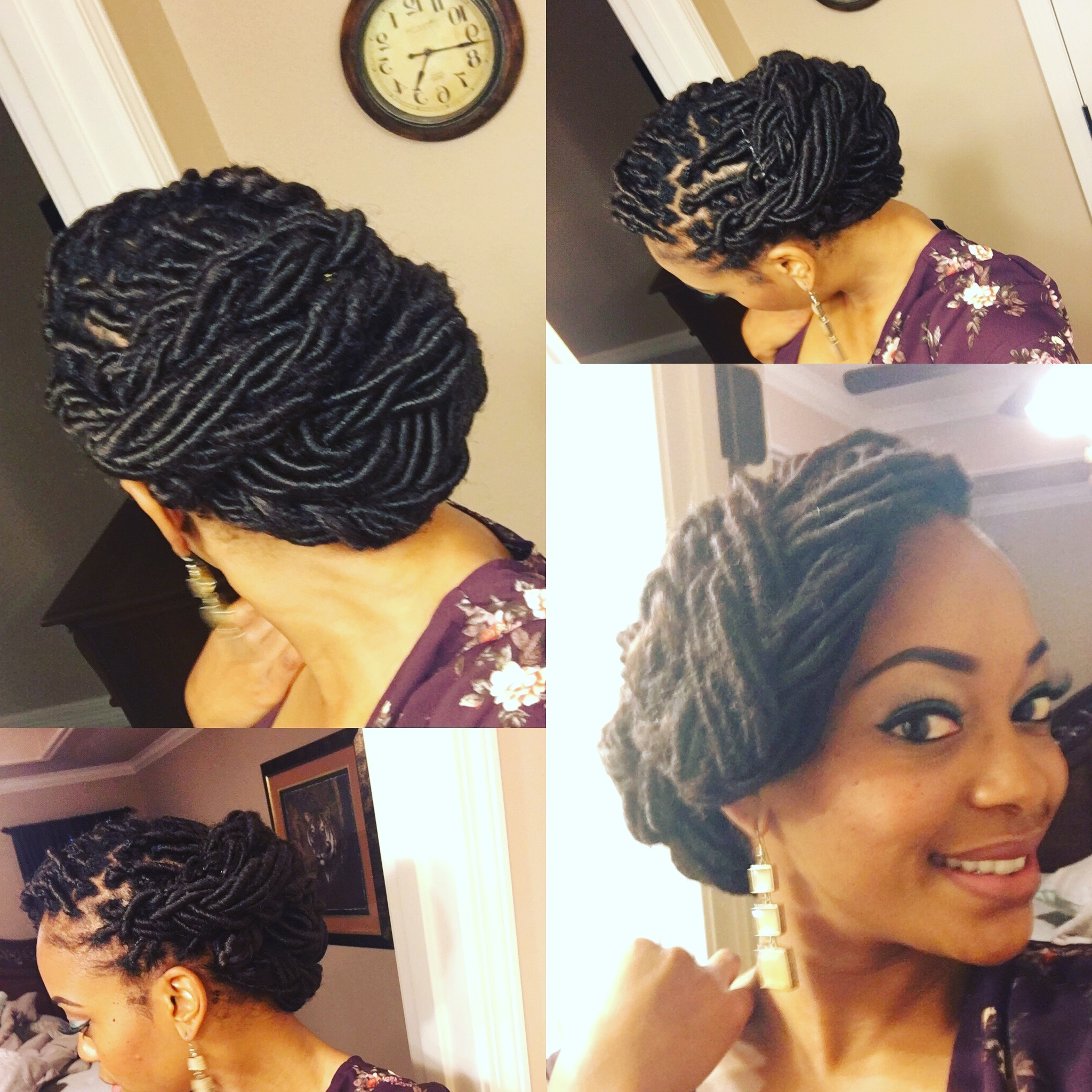 Beautiful Loc Updo | Goddess Loc Style | Locsdreadsnappyroots Intended For Updo Dread Hairstyles (View 7 of 15)
