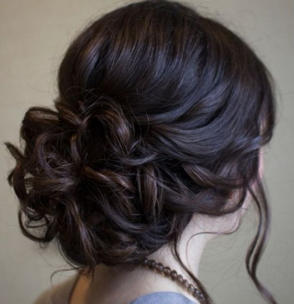 Beautiful Low Prom Updo Hairstyle With Loose Soft Curls | Updos For Homecoming Updo Hairstyles (View 4 of 15)