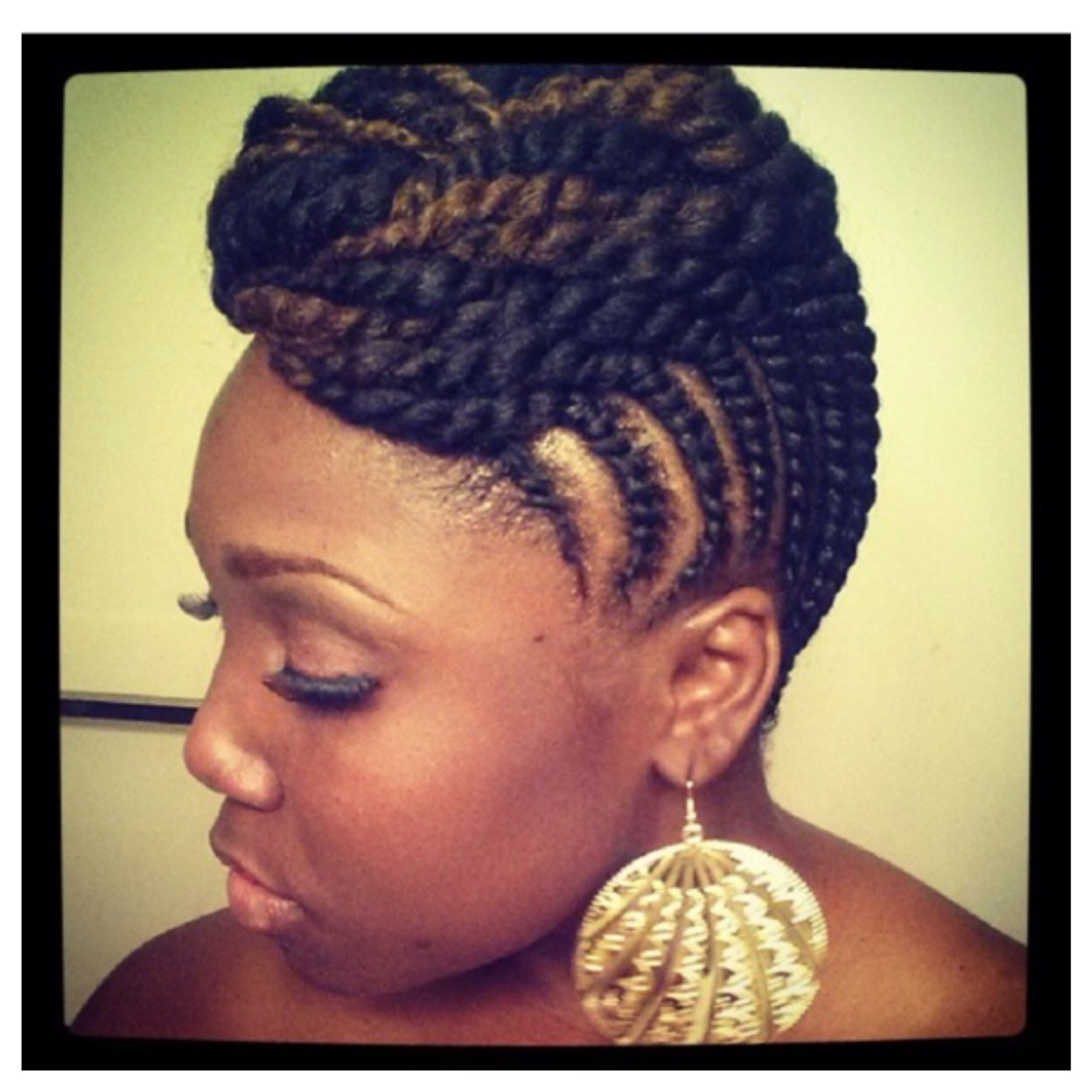 Beautiful Natural Two Strand Twist Updo (View 2 of 15)