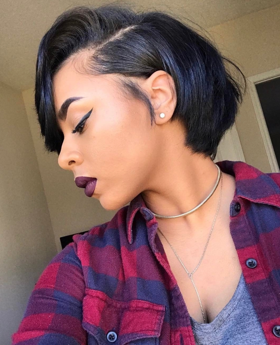 Beautiful @xoxojenise – Https://blackhairinformation/hairstyle Within Black Updos For Short Hair (View 6 of 15)