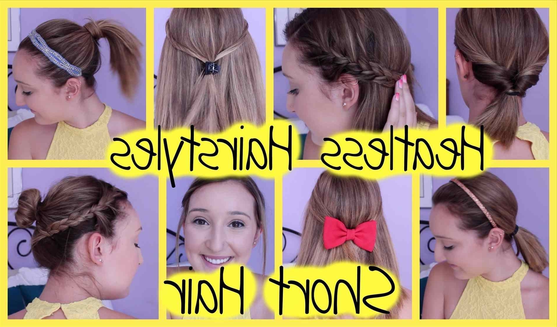 Beginners Hairstyles For School Easy Medium Hair Styles Ideas With Super Easy Updos For Short Hair (Gallery 8 of 15)