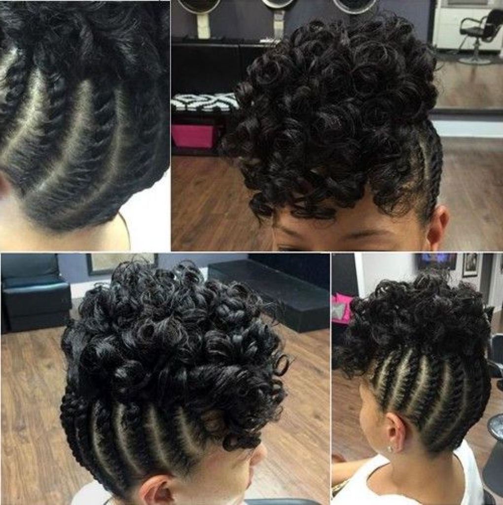 Photo Gallery Of Braided Updo Black Hairstyles Viewing 12 Of 15 Photos