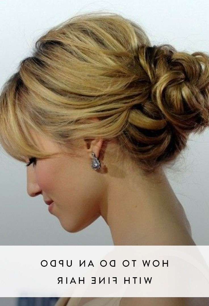 Best 25+ Fine Hair Updo Ideas On Pinterest | Updos For Fine Hair Regarding Updos For Thin Hair (View 8 of 15)