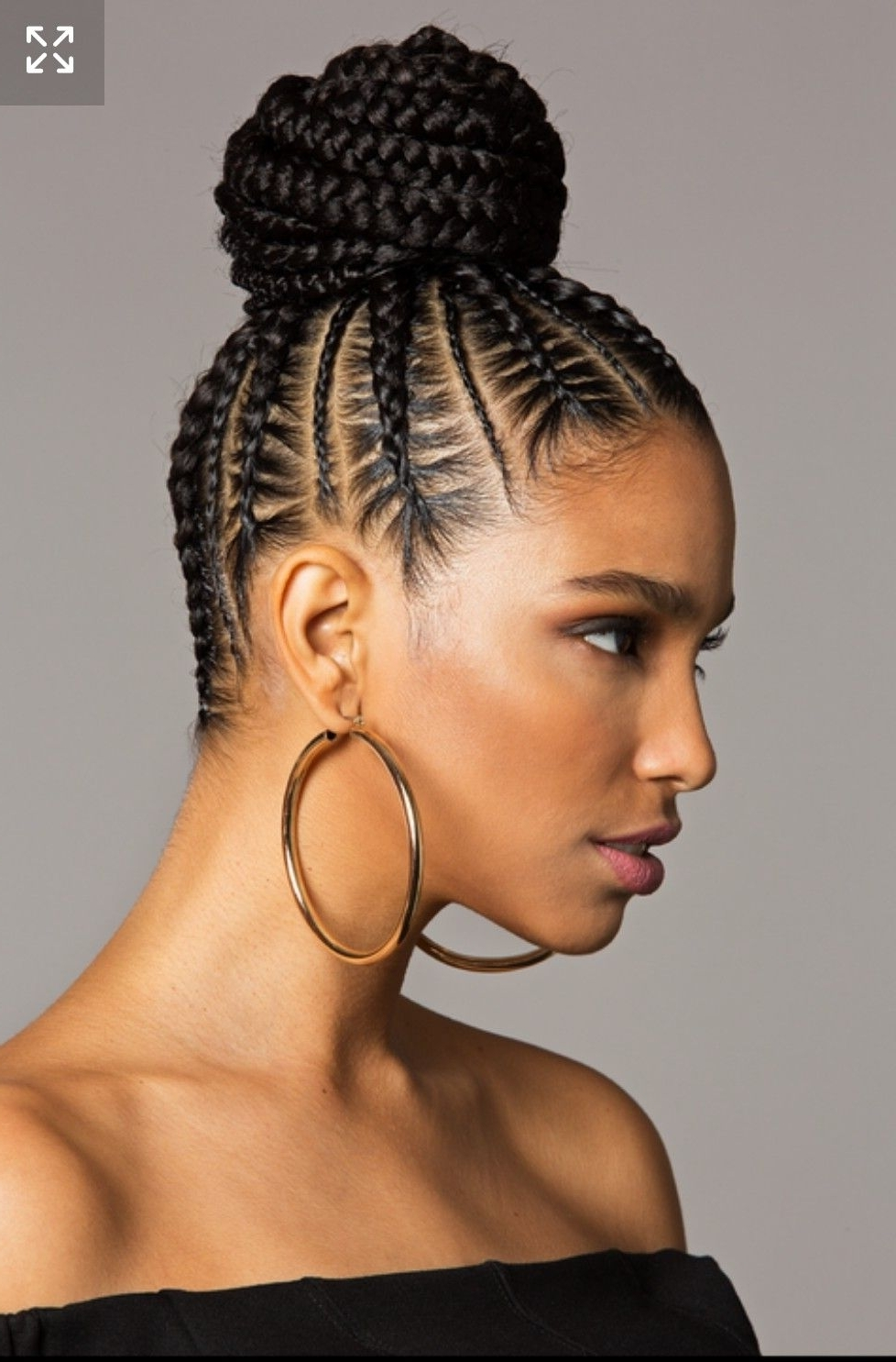Best Hairstyle For Fine Hair And Long Face | Hair Style, Black Girls For Braided Bun Updo African American Hairstyles (View 11 of 15)