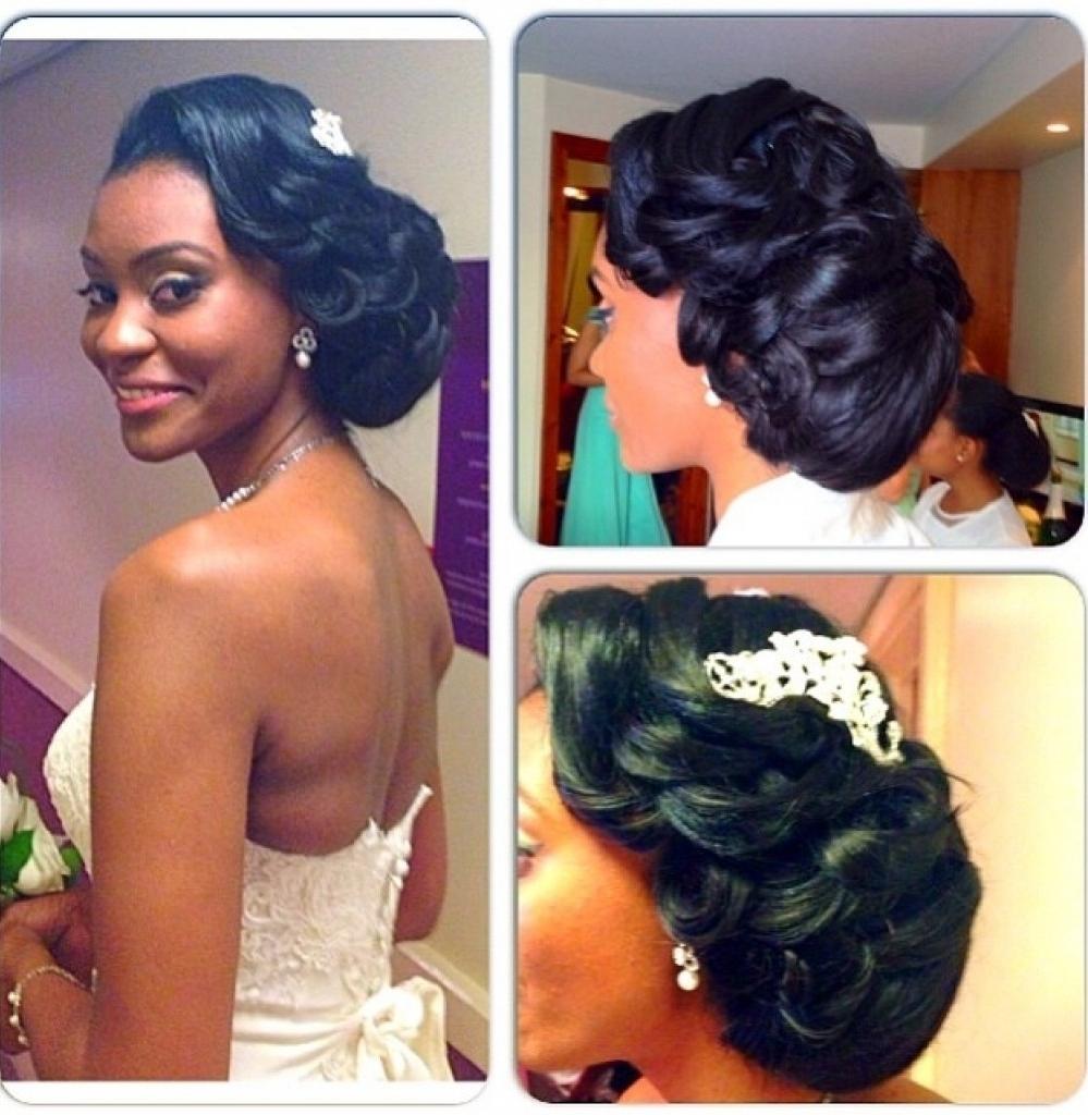 Black Bridesmaids Hairstyles Updo Wedding Hairstyle For Black Women Regarding Updo Hairstyles For Black Bridesmaids (View 2 of 15)