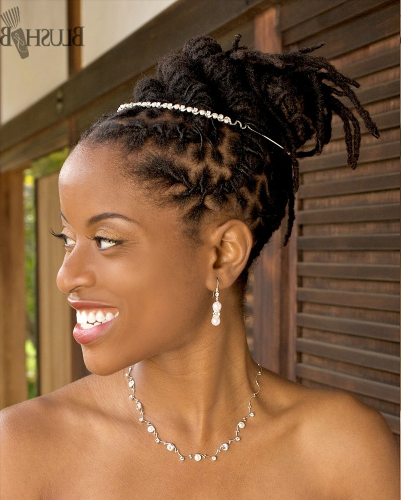 Black Dreadlocks Updo For Wedding – Thirstyroots: Black Hairstyles With Regard To Updo Dread Hairstyles (View 13 of 15)
