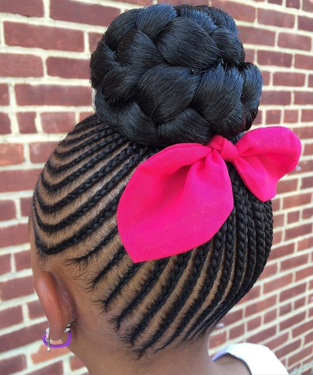 Black Girls Hairstyles And Haircuts – 40 Cool Ideas For Black Coils Throughout Cornrow Updo Bun Hairstyles (View 3 of 15)
