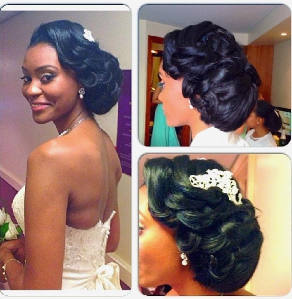Black Hairstyles : Black Bride Hairstyle New Under Hair In Black Bride Updo Hairstyles (View 3 of 15)