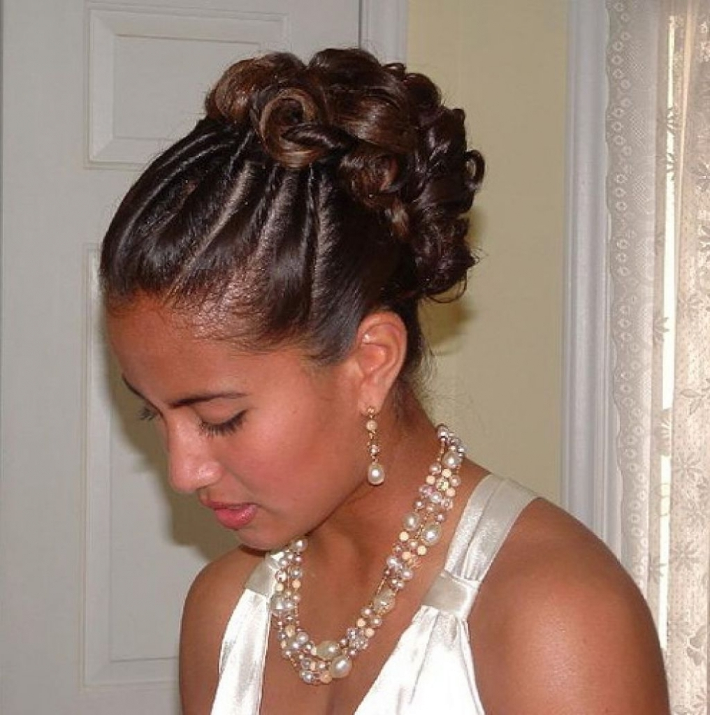 Black Hairstyles Updos For Wedding Bridal Updo On Ethnic Hair With Ethnic Updo Hairstyles (View 5 of 15)