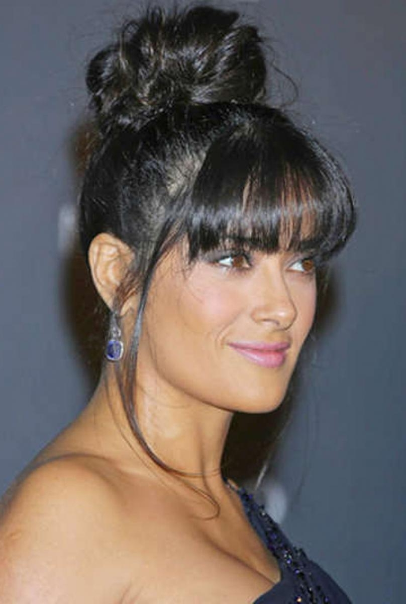 Black Updo Hairstyles With Bangs | Find Your Perfect Hair Style Within Updo Hairstyles With Bangs (View 13 of 15)