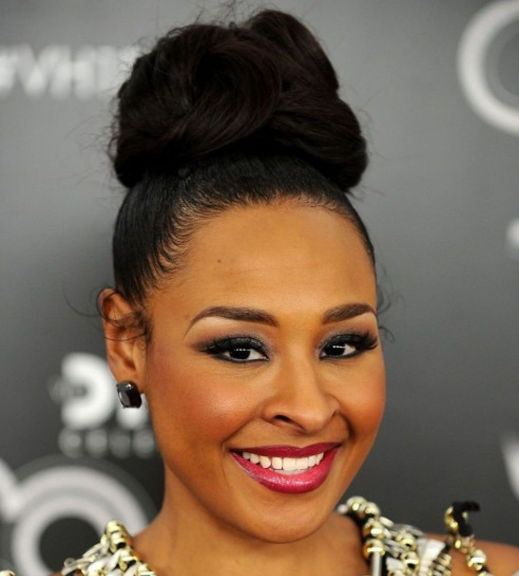 Black Women Updo Hairstyles   Trend Hairstyle And Haircut Ideas Intended For Updo Hairstyles With Bangs For Black Hair (View 2 of 15)