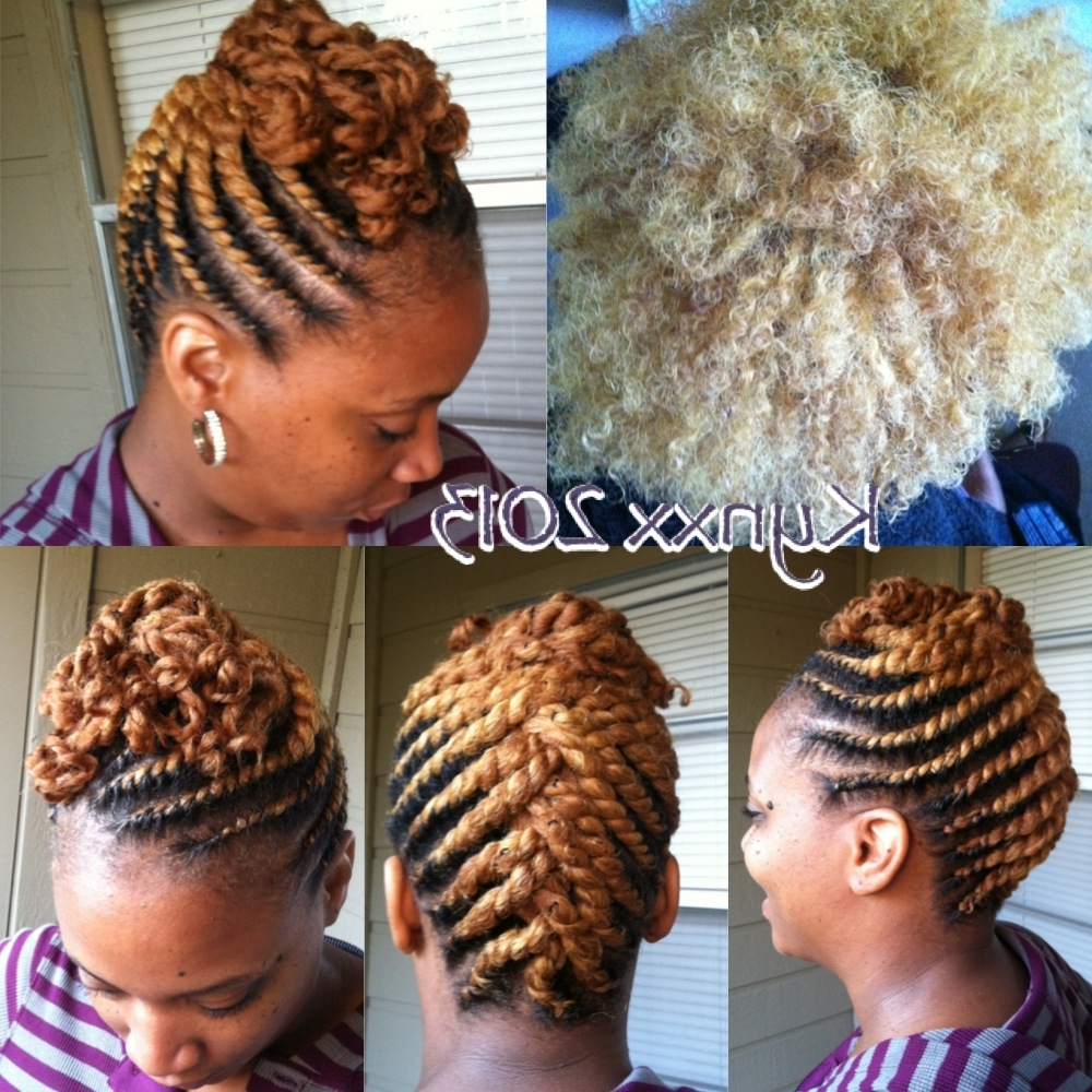 Blondie! Flat Twist Updo! | Makin' My Livin' | Pinterest | Flat Intended For Natural Twist Updo Hairstyles (View 3 of 15)
