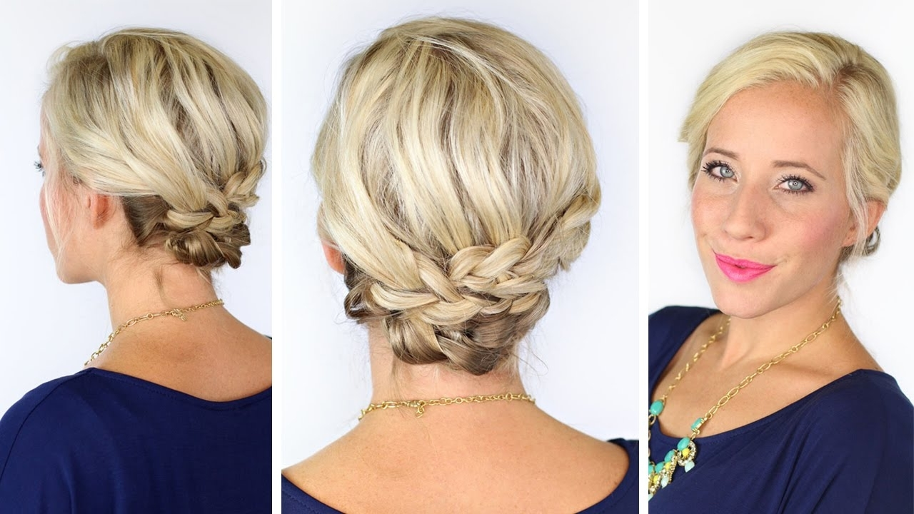 Bohemian Braids For Short Hair | Diy – Youtube With Soft Updos For Short Hair (View 7 of 15)
