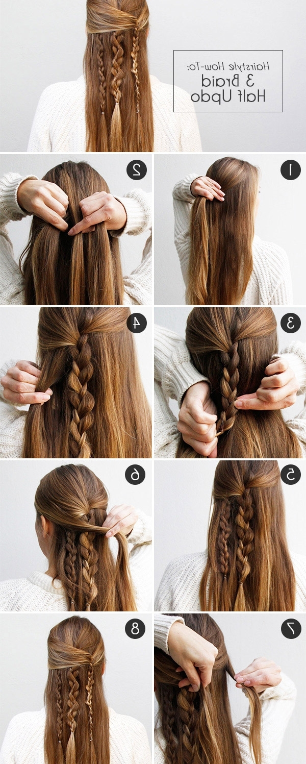 Boho Braid: How To Create An Effortlessly Chic Half Updo | More Throughout Updo Half Up Half Down Hairstyles (View 4 of 15)