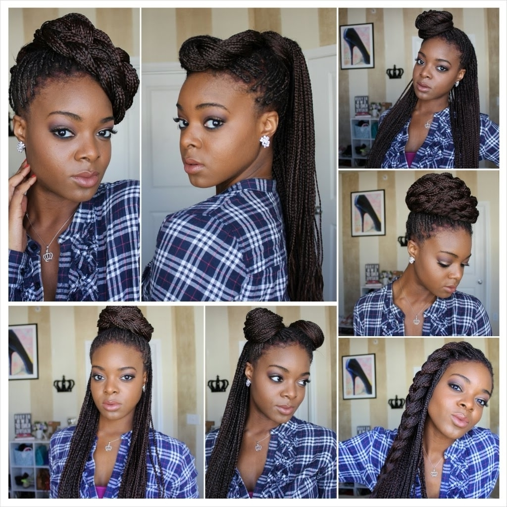 Box Braid Updo Hairstyles 1000 Images About Hair On Pinterest Box For Box Braids Updo Hairstyles (View 3 of 15)