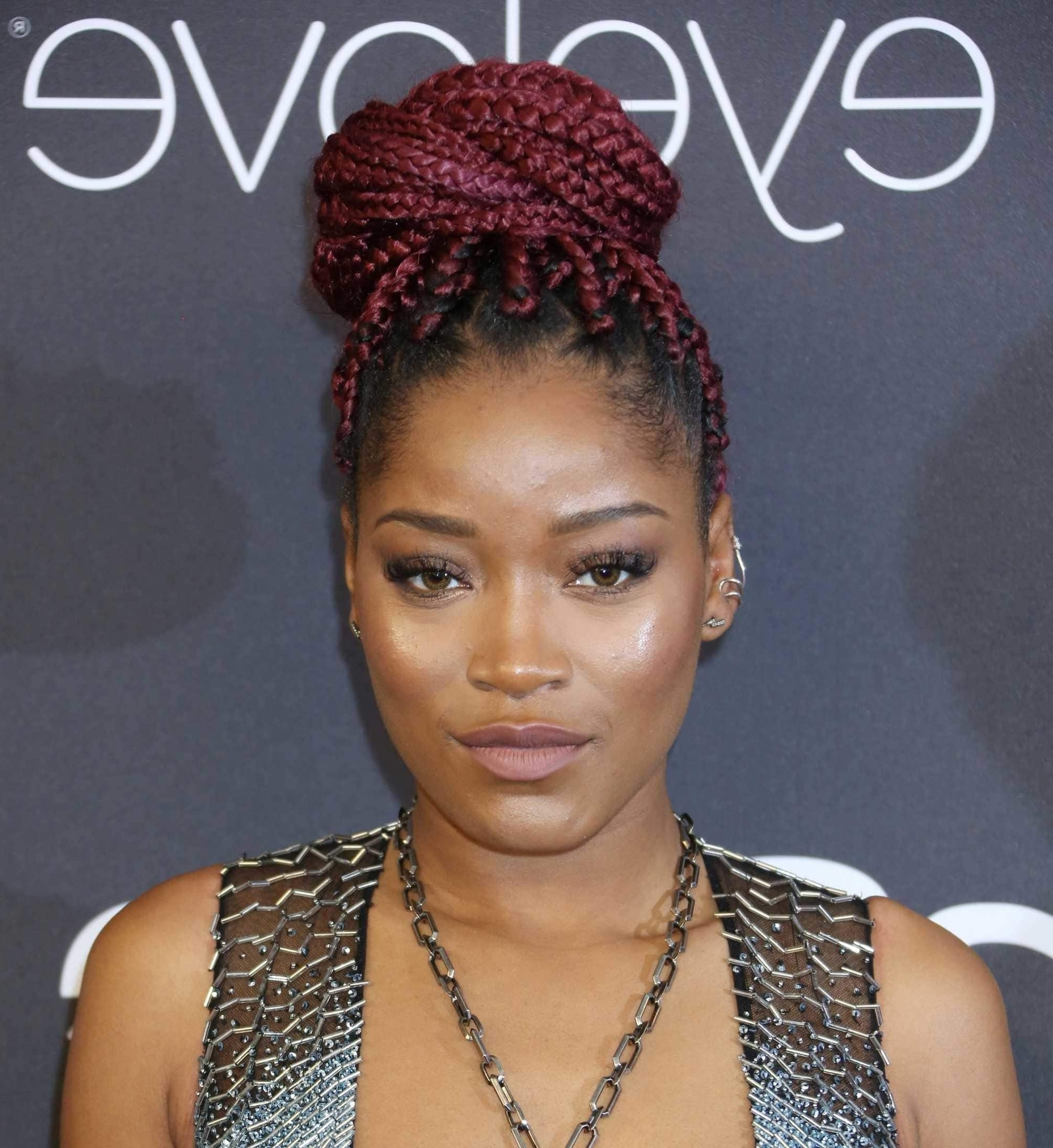 Box Braids: 13 Pretty Hairstyles To Inspire Your Next Look With Regard To Box Braids Updo Hairstyles (View 7 of 15)