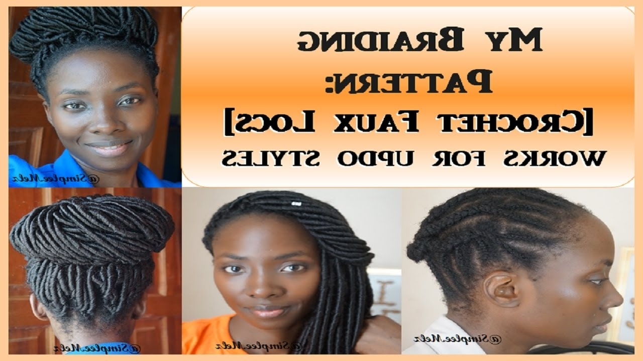 Braid Pattern & Demo – Crochet Faux Locs |What They Don't Show You Throughout Crochet Braid Pattern For Updo Hairstyles (View 1 of 15)