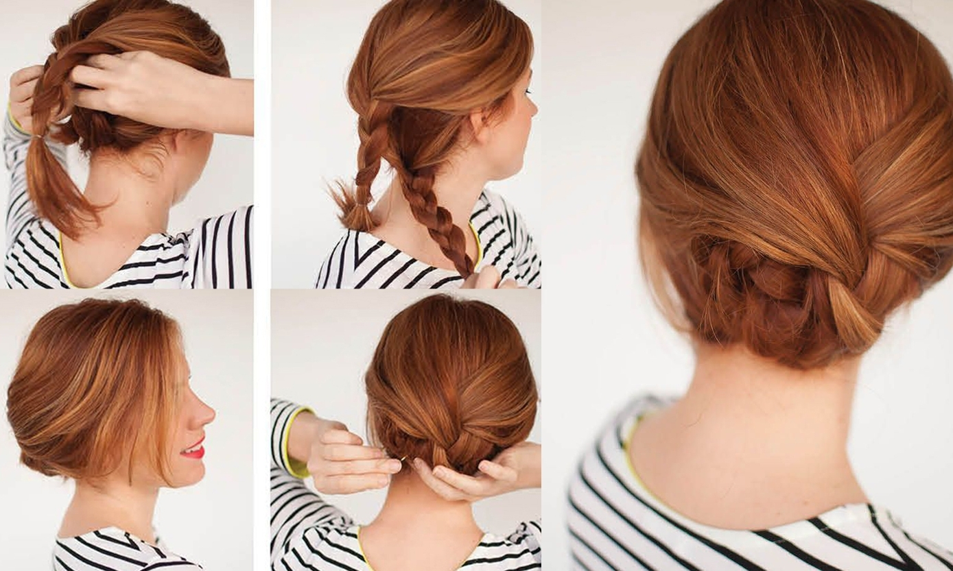 Braid Updo Hairstyles Easy Braided Updo Tutorial Get Your Own Version Pertaining To Easy Braid Updo Hairstyles (View 7 of 15)