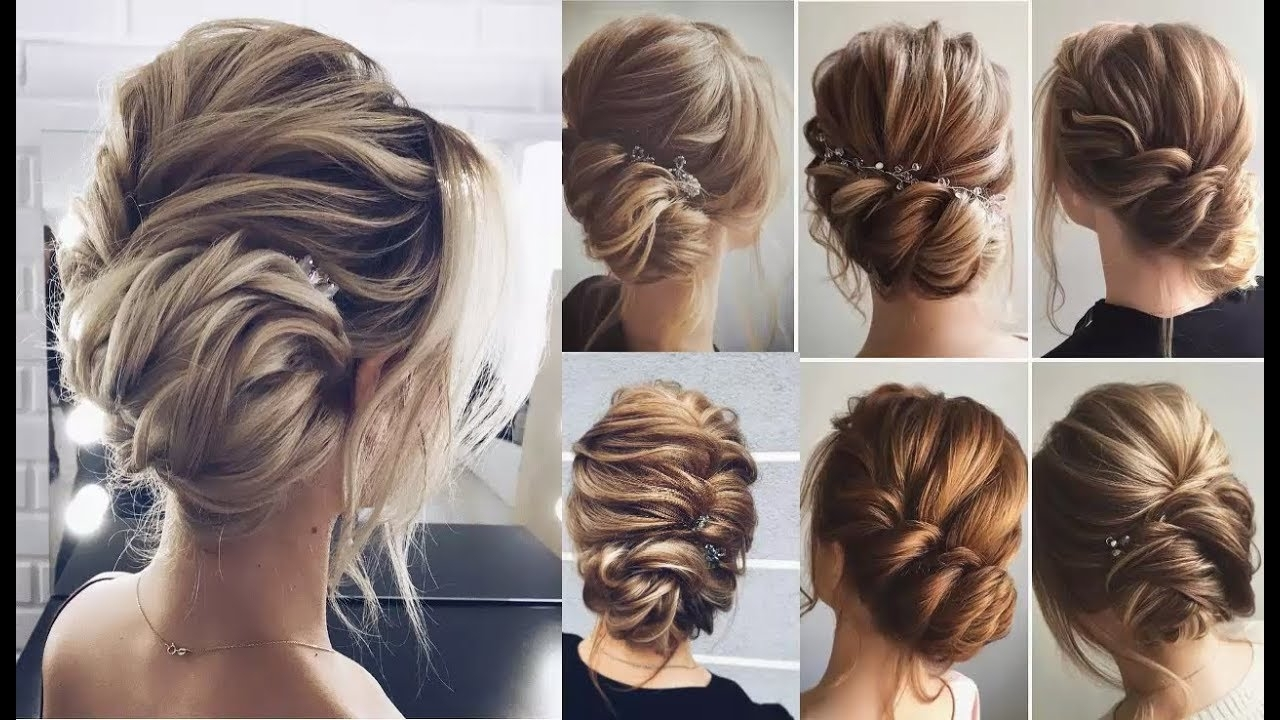 Braided Bun Updo Hairstyles || Fancy Updo || How To Perfect Low Bun Throughout Updo Low Bun Hairstyles (View 4 of 15)