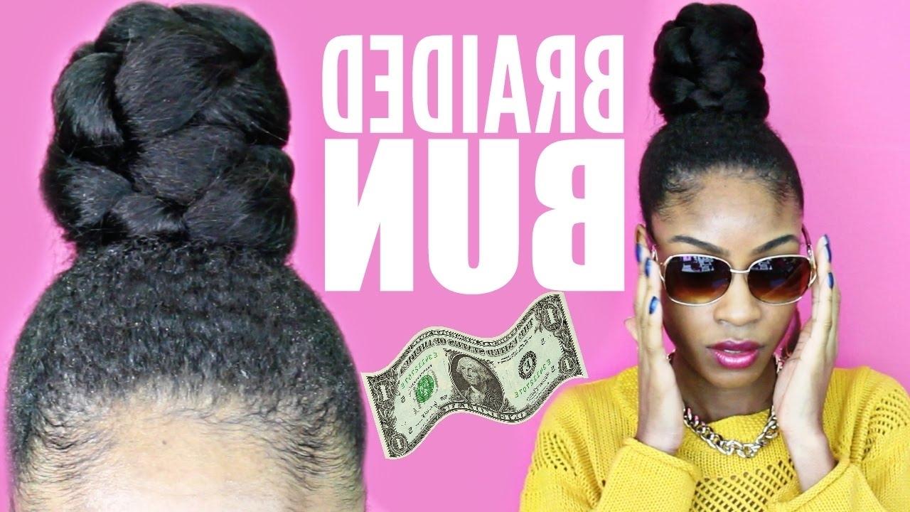 Braided Bun With Kanekalon Hair▻ Natural Hair Protective Styles In Natural Hair Updo Hairstyles With Kanekalon Hair (View 4 of 15)