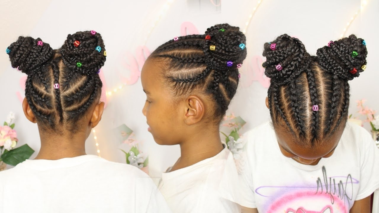 Braided Buns W/ Hair Extensions | Hair For Little Girls Regarding Braided Updo Hairstyles With Extensions (View 5 of 15)