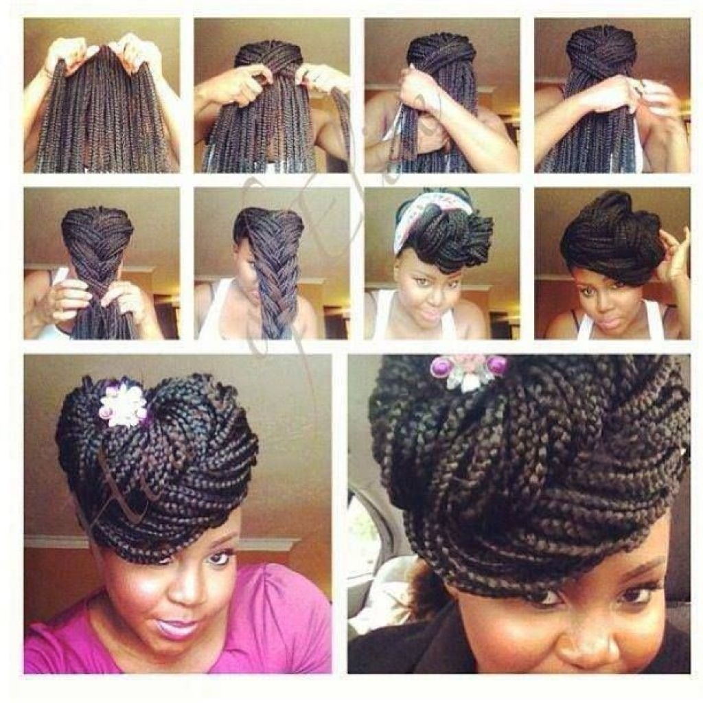 Braided Hairstyles : Creative Vivacious Box Braids Updo Hairstyles With Box Braids Updo Hairstyles (View 8 of 15)