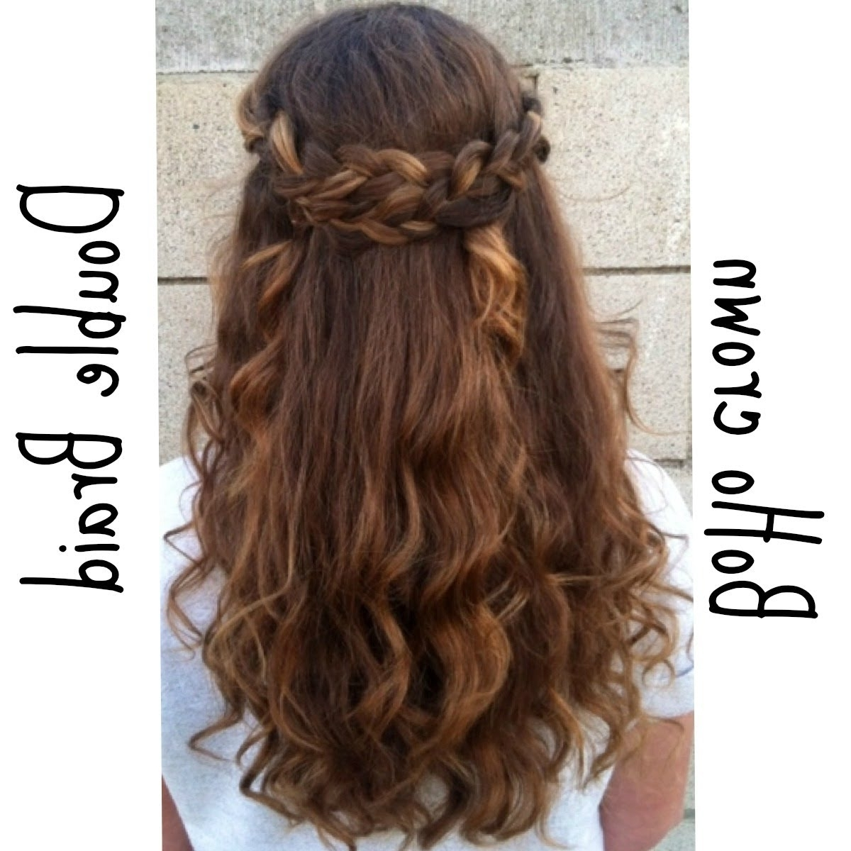 Braided Half Up Half Down Hairstyle | Hair & Make Up | Pinterest Inside Updo Half Up Half Down Hairstyles (View 5 of 15)
