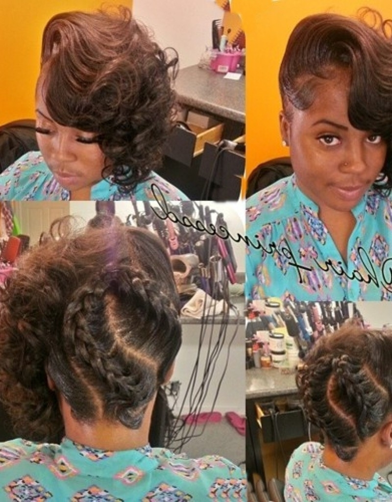 Braided Updo For African American Women – Hollywood Official Inside Afro American Updo Hairstyles (View 10 of 15)