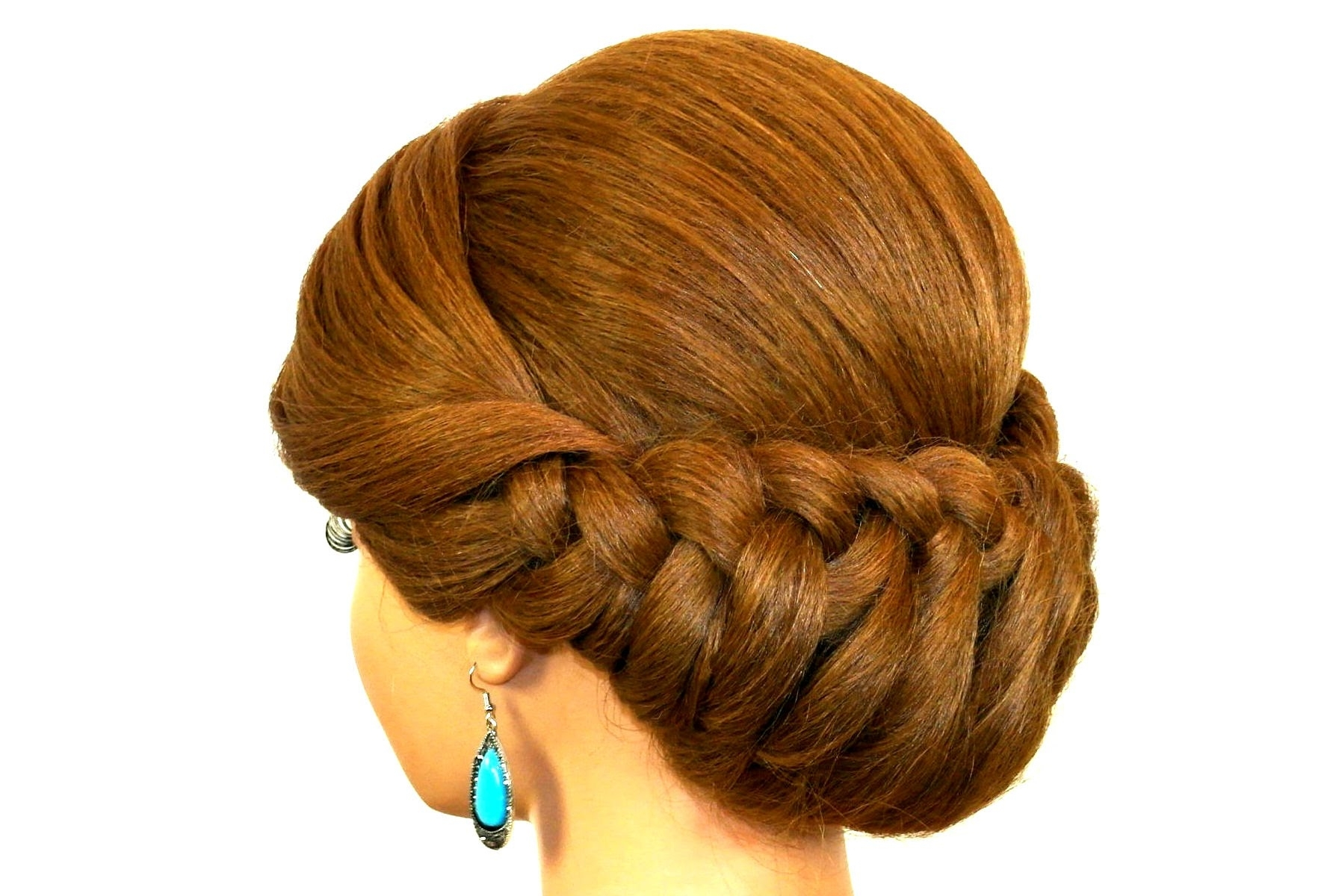 Braided Updo Hairstyle For Medium Long Hair Tutorial – Youtube Pertaining To Braid Updo Hairstyles For Long Hair (View 7 of 15)