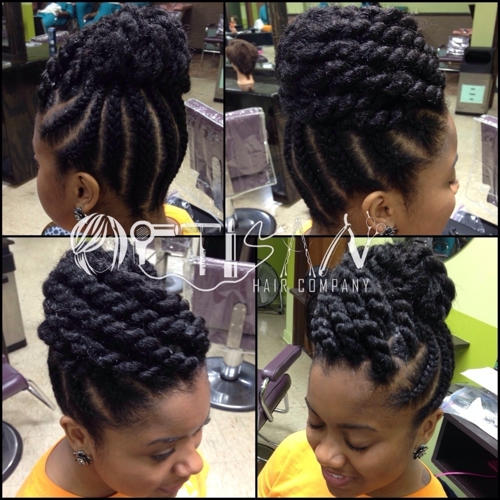 Braided Updo Hairstyles African American Updo Black Braided Inside Black Braids Updo Hairstyles (View 6 of 15)