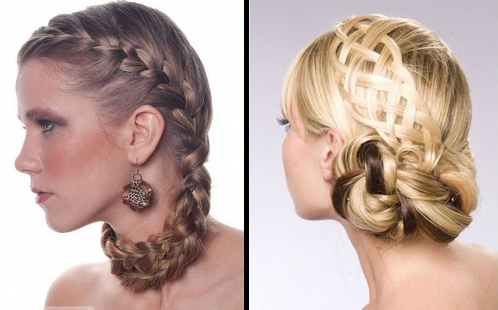 Braided Updo Hairstyles Hair Salon Formal For Women | Medium Hair Regarding Formal Updo Hairstyles For Medium Hair (View 4 of 15)