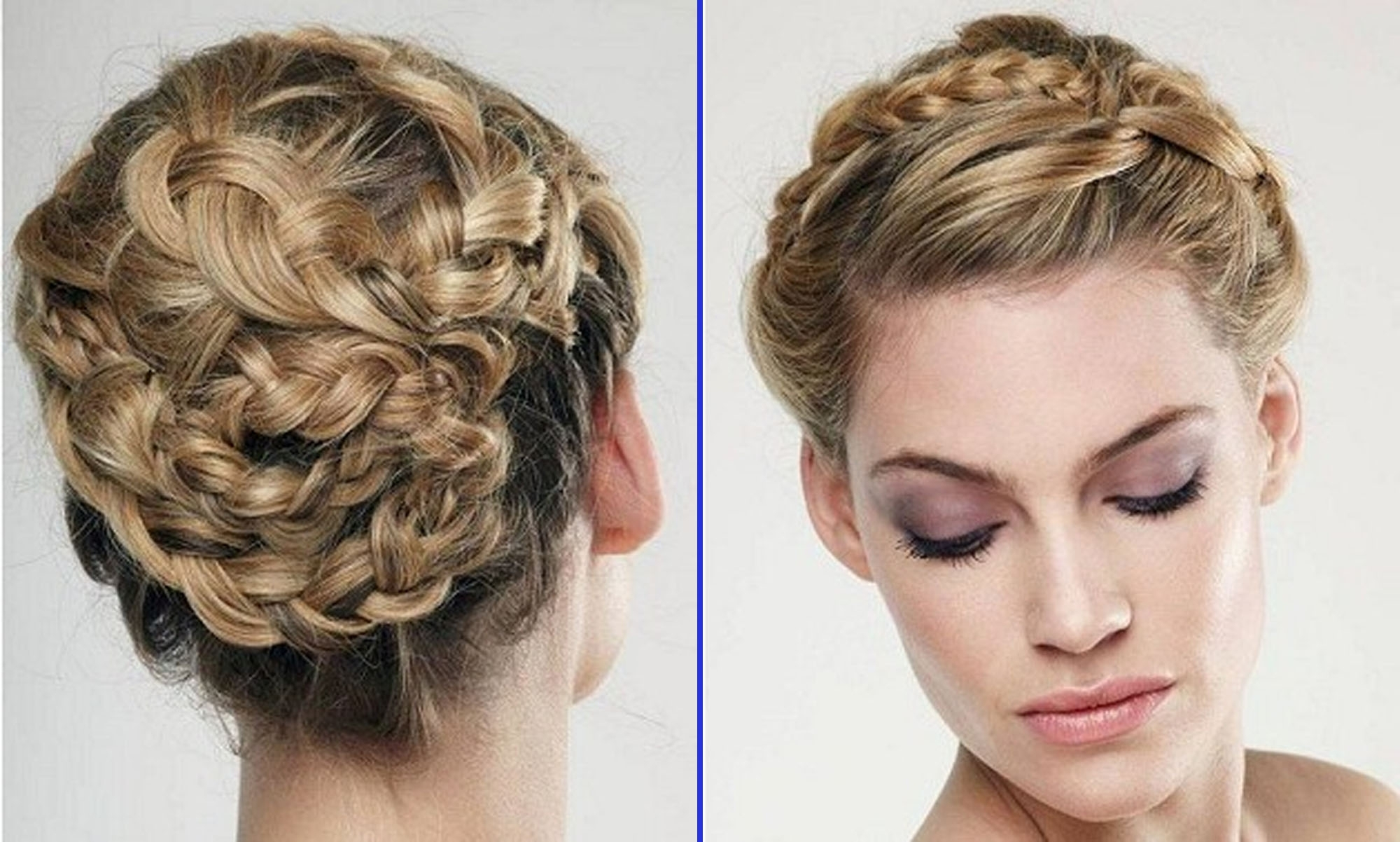 Braided Updo Hairstyles Wedding For Women Hairdresser | Medium Hair Throughout Braided Hair Updo Hairstyles (View 6 of 15)