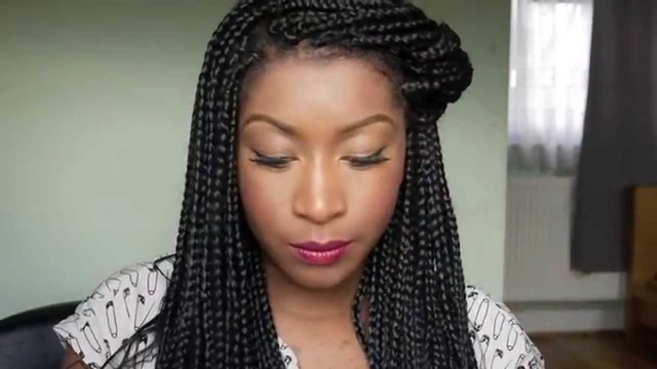 Braids Updo Hairstyles Ways To Style Your Box Braids Regarding Single Braid Updo Hairstyles (View 3 of 15)
