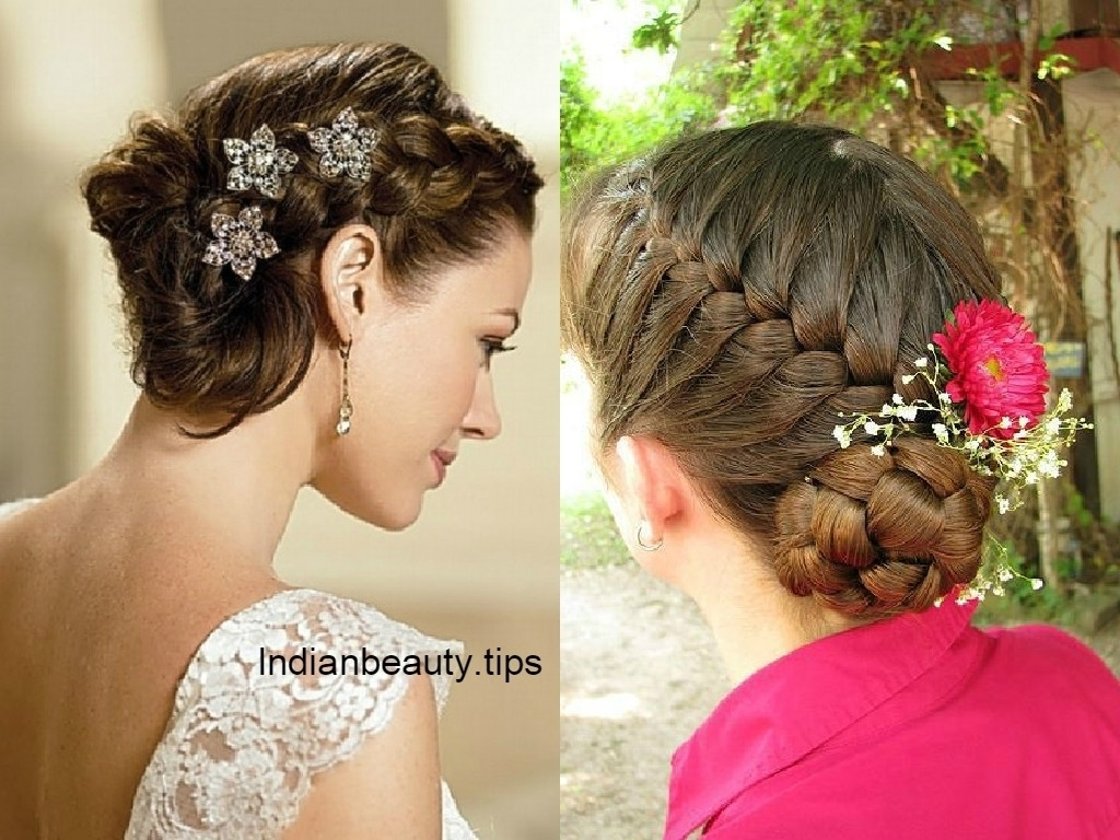 Bridal Bun Hairstyle 30 Elegant Bridal Updo Hairstyles Indian Beauty Inside Bridal Bun Updo Hairstyles (View 11 of 15)