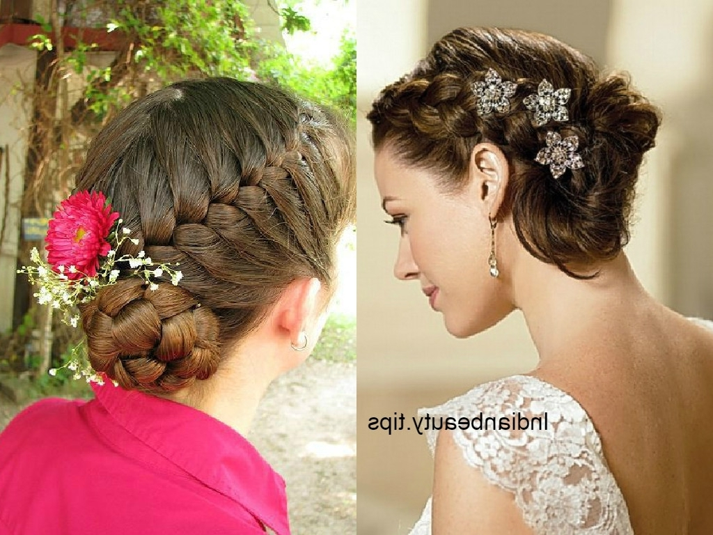 Bridal Bun Hairstyle – Women Medium Haircut With Regard To Bridal Bun Updo Hairstyles (View 2 of 15)