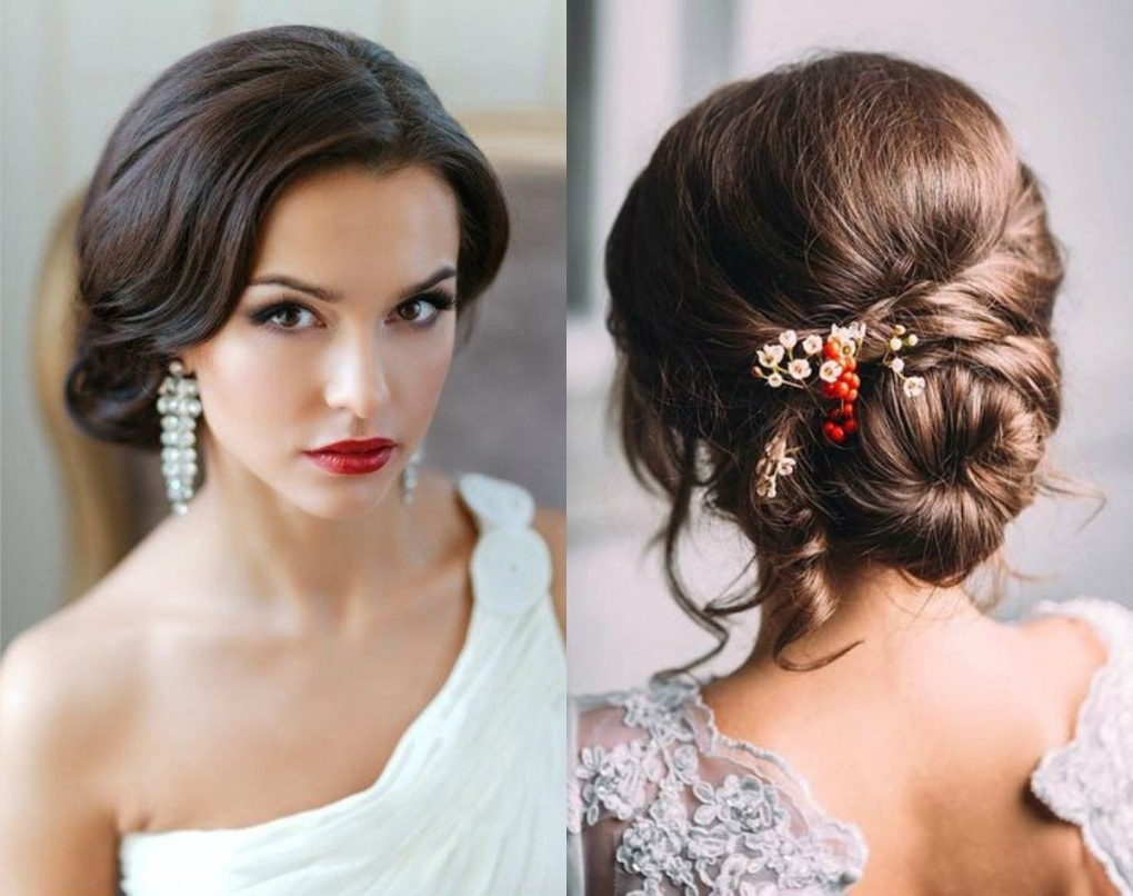 Bridal Buns Hairstyles | Trend Hairstyle And Haircut Ideas | Latest Throughout Bridal Bun Updo Hairstyles (View 9 of 15)