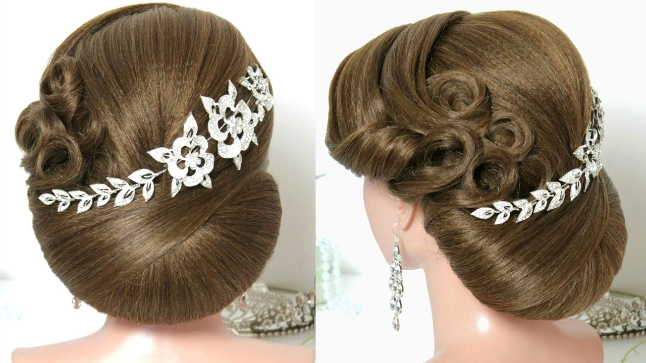 Bridal Hairstyle For Long Hair Tutorial. Trendy Wedding Updo (View 4 of 15)