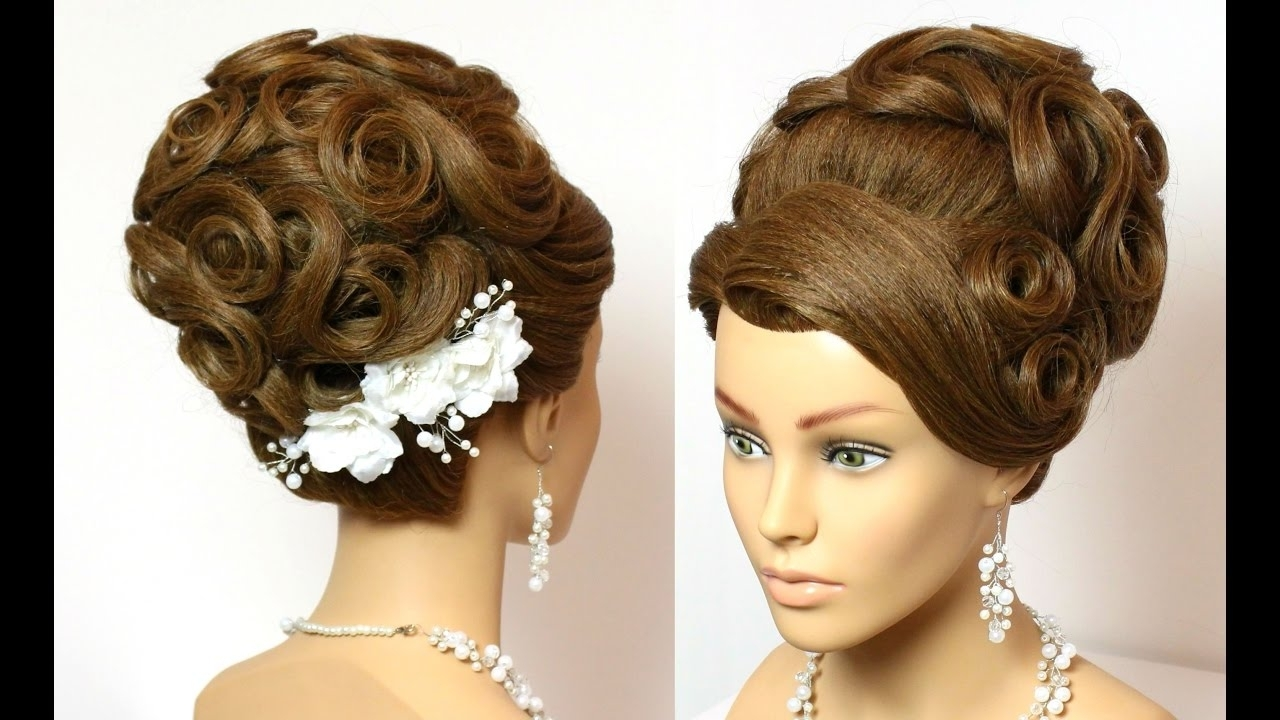 Bridal Updo Hairstyles For Long Hair With Flower Bun Ideas Updos With Bridal Updo Hairstyles For Long Hair (View 4 of 15)