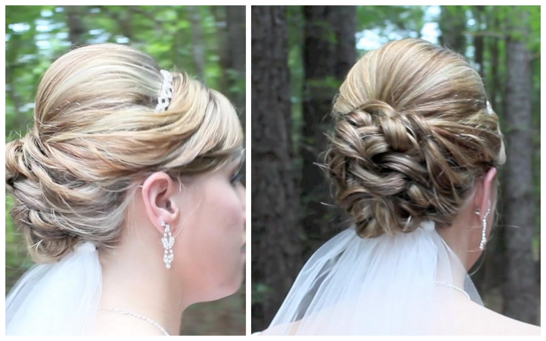 Bridal Updo On Shoulder Length Hair – Youtube Within Shoulder Length Updo Hairstyles (View 2 of 15)