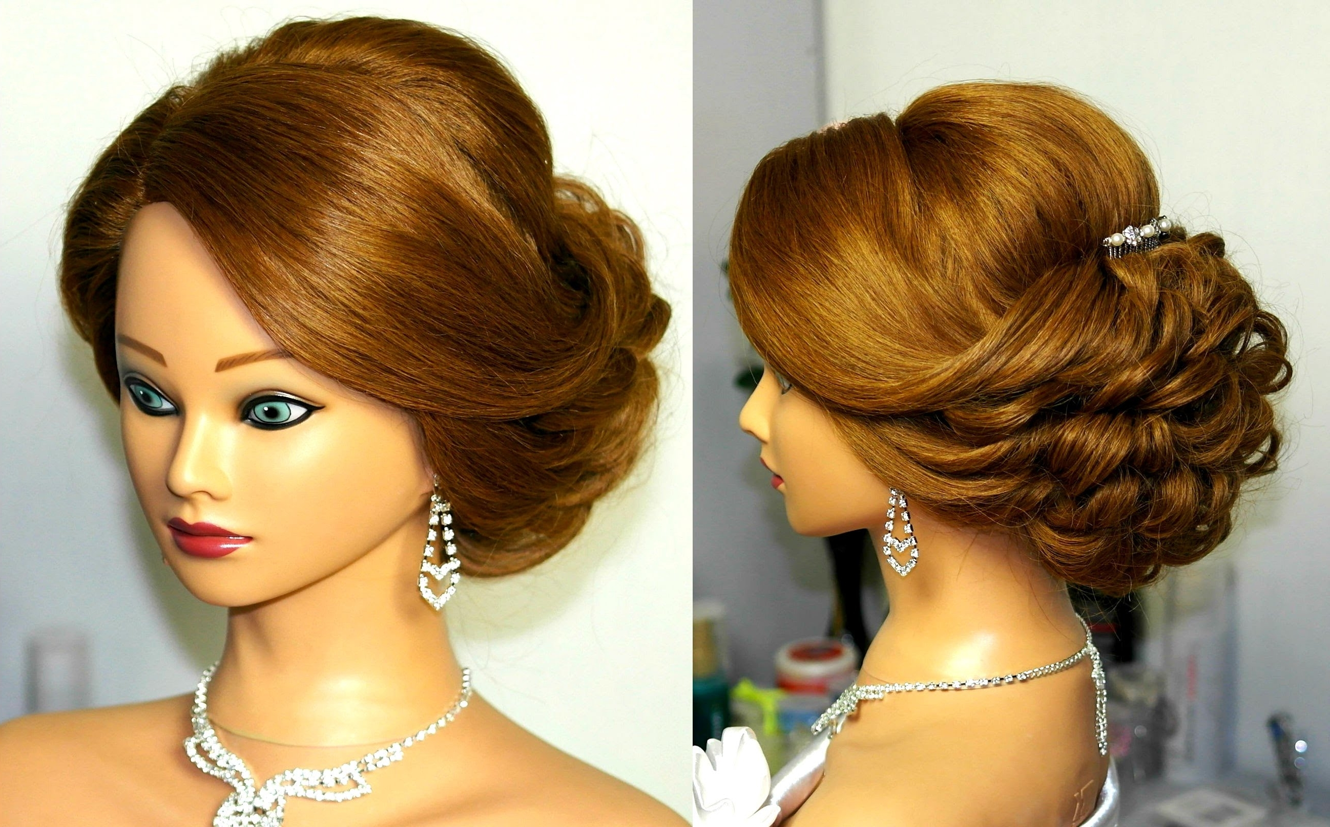 Bridal Updo. Romantic Hairstyle For Medium Hair (View 8 of 15)