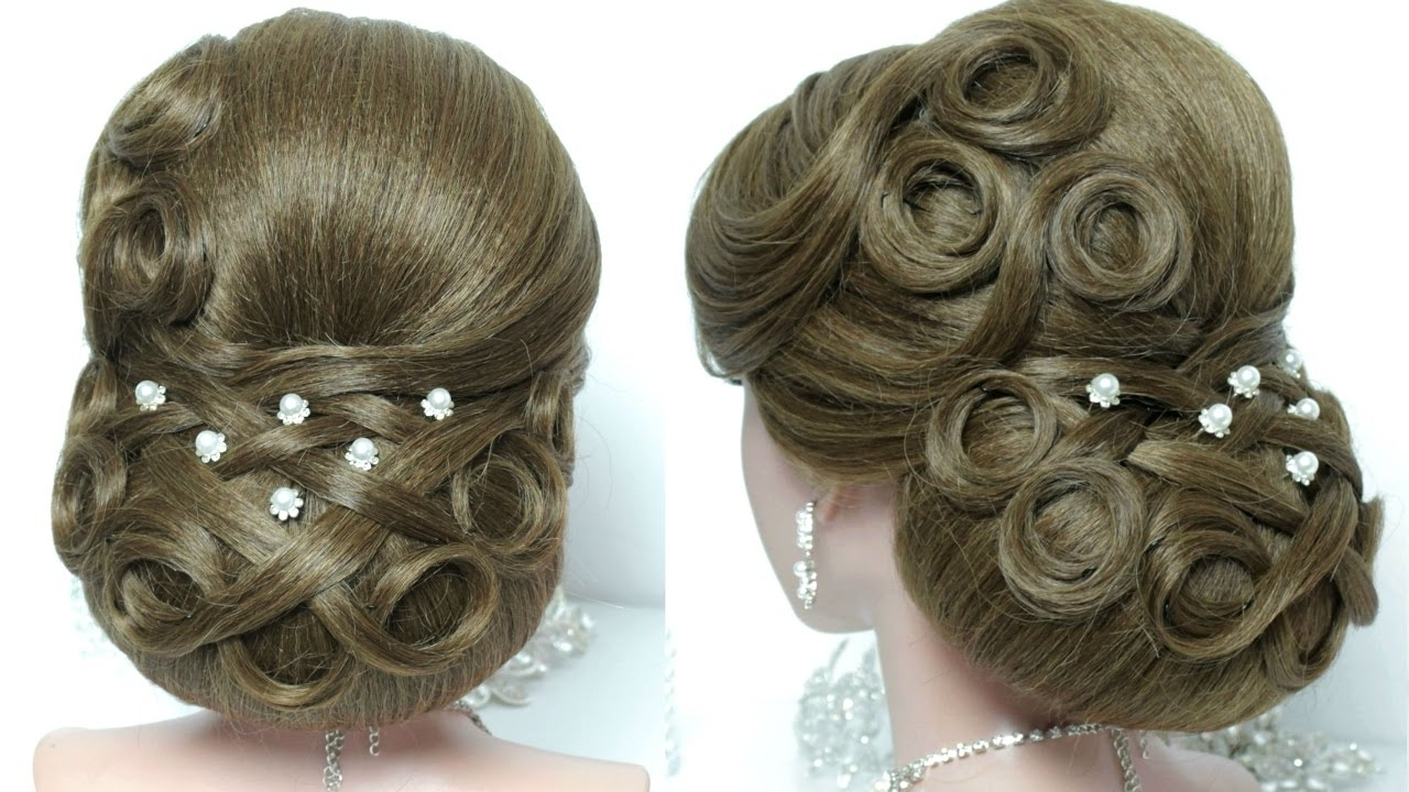 Bridal Updo Wedding Hairstyle For Long Hair Tutorial Youtube 50Th Inside Updo Hairstyles For Weddings Long Hair (View 8 of 15)