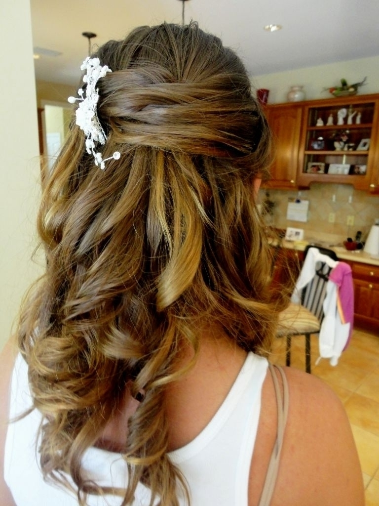 Bride Half Up Half Down Hairstyle – Popular Long Hairstyle Idea With Mother Of The Bride Half Updo Hairstyles (View 5 of 15)