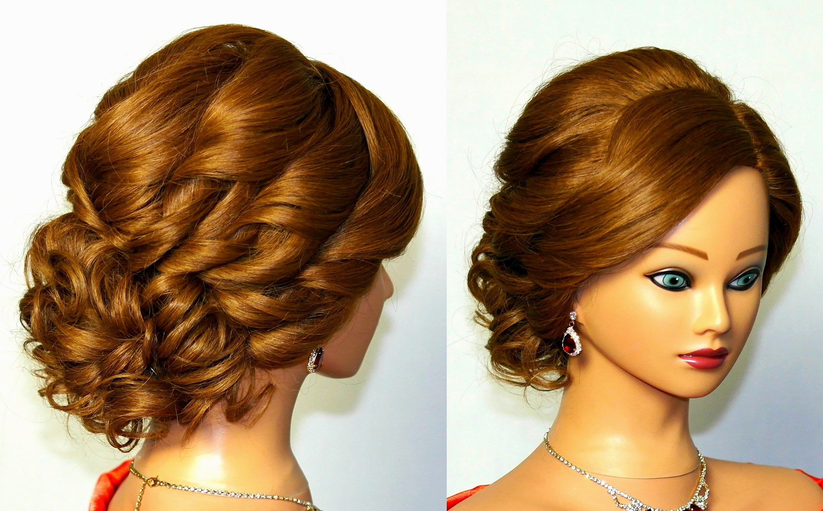 Bridesmaid Hairstyles Curly Hair Updo Hairstyle Pop Ideas Of Curly Regarding Updos For Curly Hair (View 3 of 15)