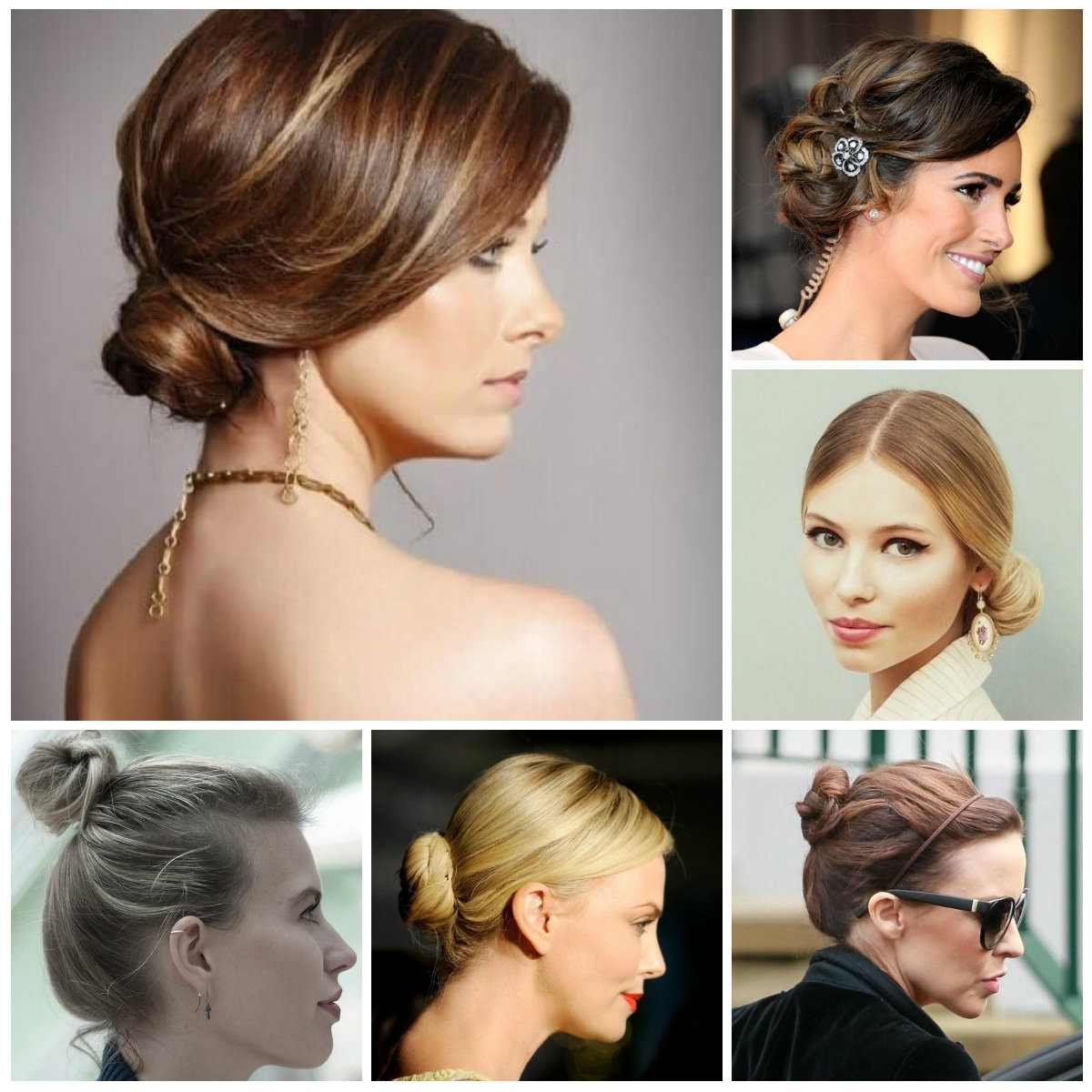 Bun Hairstyle For Short Hair – Women Medium Haircut Pertaining To Elegant Updo Hairstyles For Short Hair (View 6 of 15)