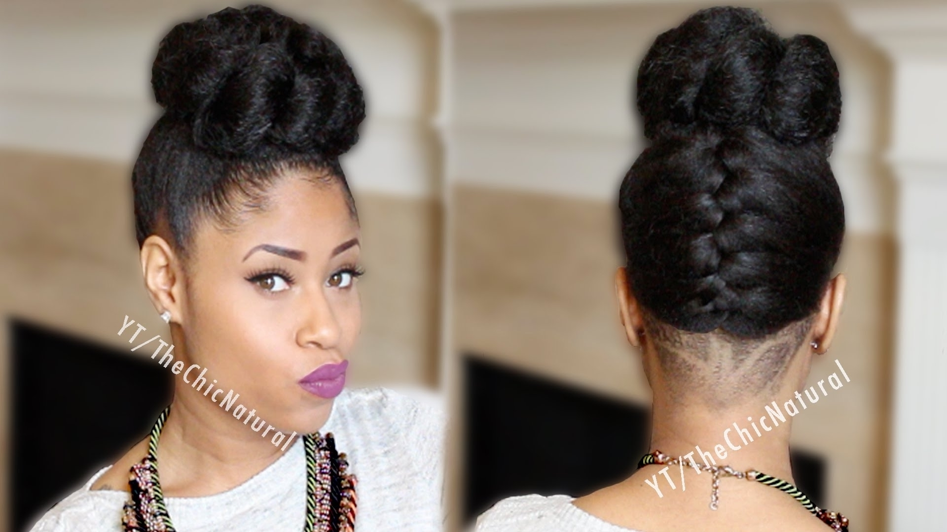 Bun Hairstyles For African American Hair – 42lions With Regard To Black Hair Updo Hairstyles With Bangs (View 7 of 15)