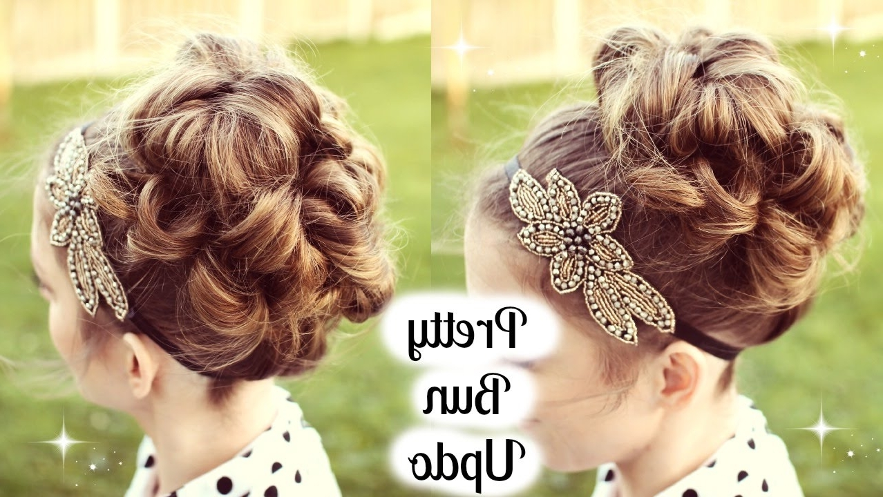 Bun Updo Tutorial For Prom / Wedding | Braidsandstyles12 – Youtube With Regard To Updos Buns Hairstyles (View 8 of 15)